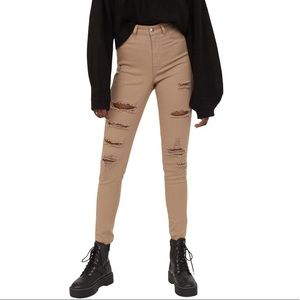 H&M Divided Nude Super Skinny High Waist Jeans